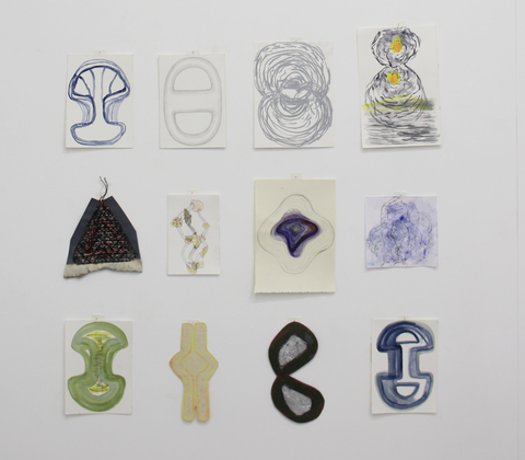 Elisa Lendvay Studio Selected Works on Paper mixed media on paper