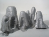 Mounds/ Busts 2004-2006 cast aluminum