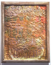 Selected Paintings grandmother's bathmat, plaster, oil paint, wood