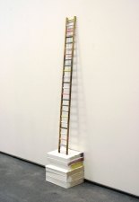 Elisa Lendvay Studio Reiterations (memory) and Thought forms wood, acrylic paint, phone books