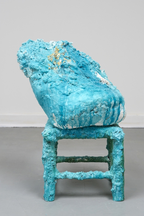 Elisa Soliven  / Plaster, Bamboo, Foam Found on East River, Acrylic Paint, Metal Foil, Paper Mache, and Muslin Fabric