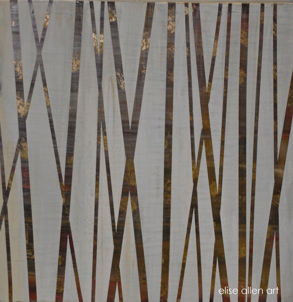 PAINTINGS Brown & Gold Bamboo