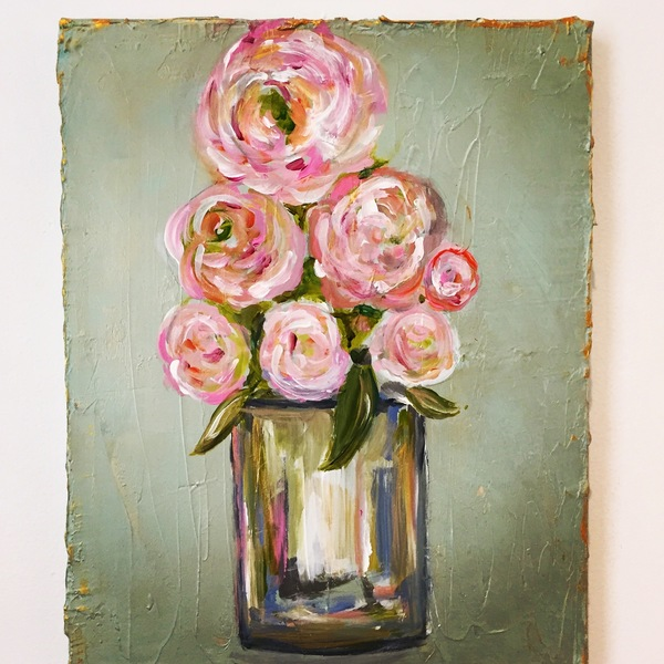 PAINTINGS Pink Peonies