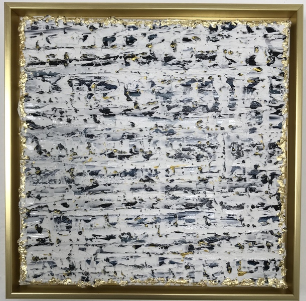 PREVIOUS WORKS Navy & White Confetti, Framed I