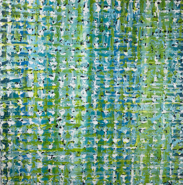 AVAILABLE WORKS Blue Green Confetti