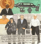 First Radio Headline Heard of the Day Drawing Project watercolor, gouache, graphite on paper