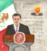 First Radio Headline Heard of the Day Drawing Project  watercolor, gouache, graphite, on paper