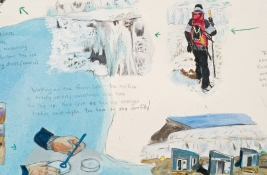 Elise Engler Antarctica gouache and colored pencil on paper