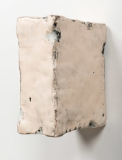 ELIZABETH HARRIS WALL SCULPTURE Encaustic, graphite and plaster on wood