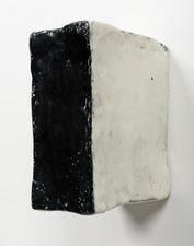 ELIZABETH HARRIS WALL SCULPTURE Encaustic, graphite, oil and plaster on wood