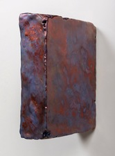 ELIZABETH HARRIS WALL SCULPTURE Encaustic and pigment on wood