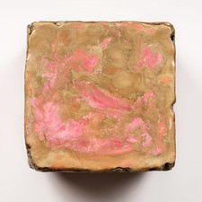 ELIZABETH HARRIS WALL SCULPTURE Encaustic and pigment on plaster and wood