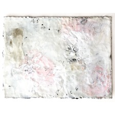 ELIZABETH HARRIS COLLAGE Encaustic and graphite on paper