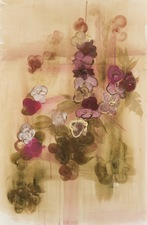 Elizabeth Riggle Roses gouache and watercolor on paper