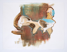 Elizabeth Riggle Drawings conte, gouache on paper