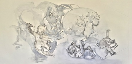Elizabeth Riggle Drawings charcoal and gesso on paper