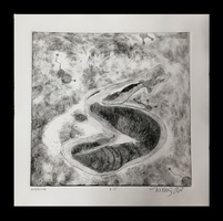 Elizabeth Criger DRY POINT & LINOLEUM Dry Point Print