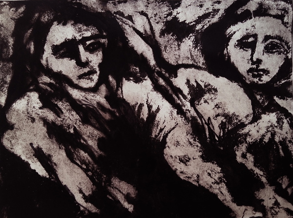 Figures Paper Lithograph / 15 x 20