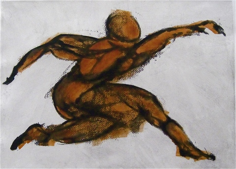 Dancer Series Paper Lithograph & Monotype / 18 x 24