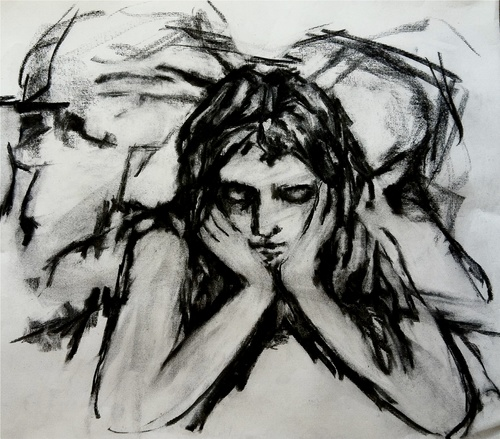 Variations Charcoal / 18 x 20