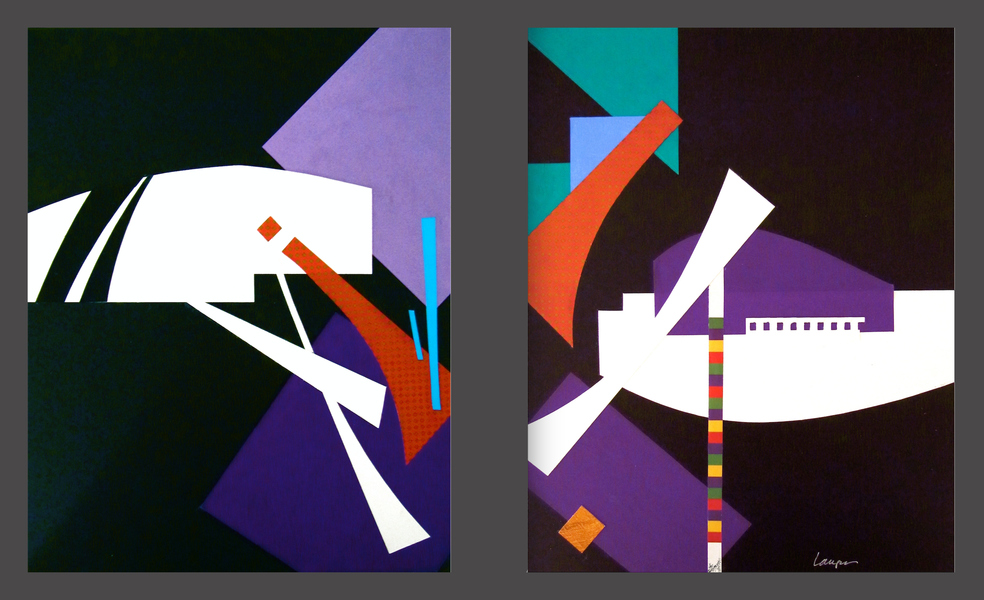 Collages IMPROV: JAZZ AT DUSK (L)
