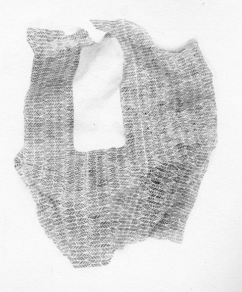 Elizabeth Duffy Security Envelope Quilts and Drawings Pencil on Paper