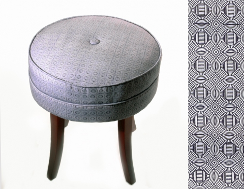 Elizabeth Duffy Security Envelope Objects and Installations Upholstered Footstool