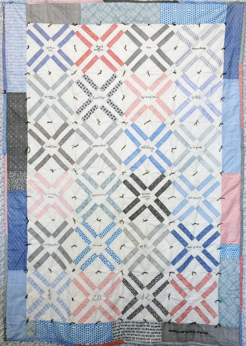 Elizabeth Duffy Security Envelope Quilts and Drawings Embroidered & Quilted Cotton