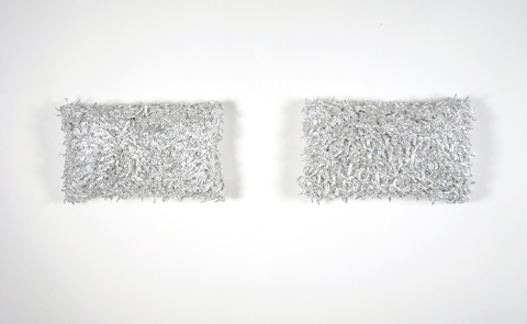 Elizabeth Duffy Archive Gum Wrappers and Wire Mesh