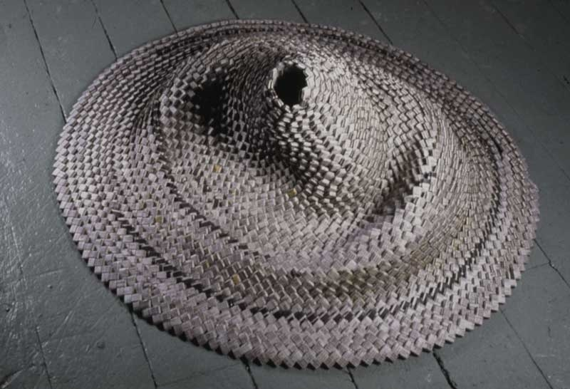 Elizabeth Duffy Archive phone book, woven