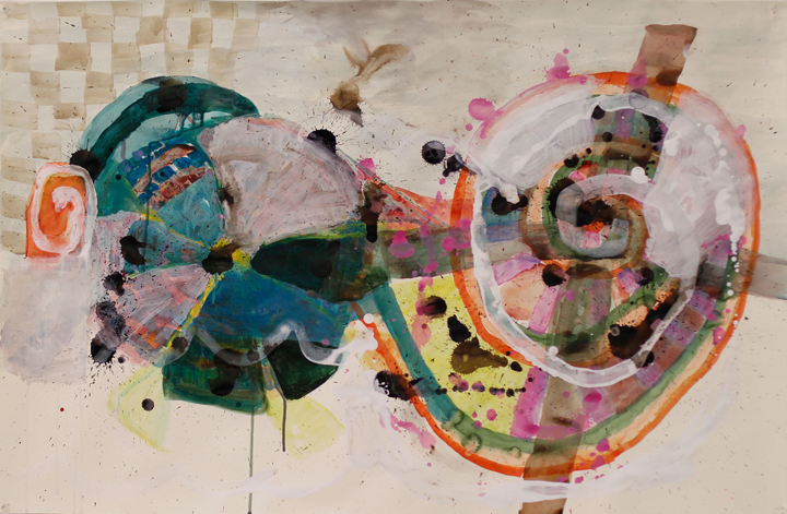 Elizabeth Terhune Questionable Paintings watercolor, acrylic, ink and gesso on paper