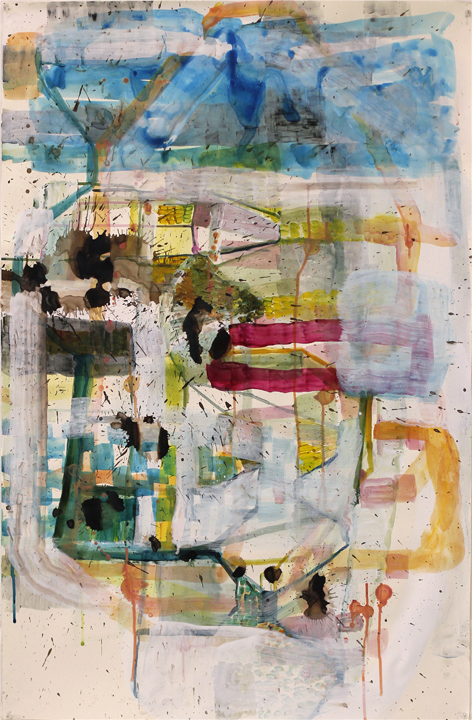 Elizabeth Terhune Questionable Paintings watercolor, ink, acrylic and gesso on paper