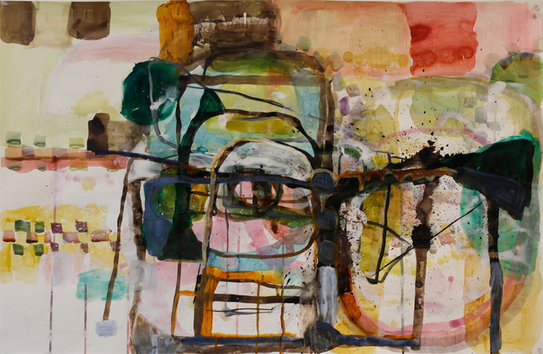 Elizabeth Terhune Questionable Paintings Watercolor, acrylic, ink on paper
