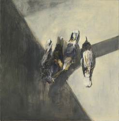 Ellen Holtzblatt Birds oil on panel