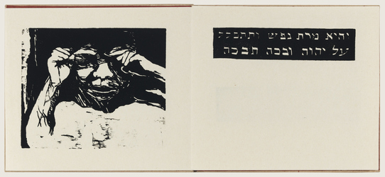 Ellen Holtzblatt Sefer Hana woodcut on Japanese paper