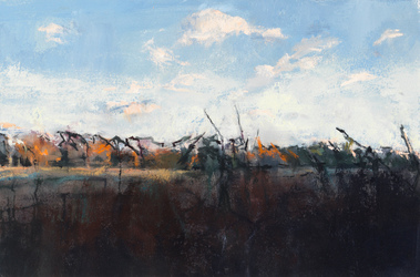 Ellen Holtzblatt Prairie oil on panel