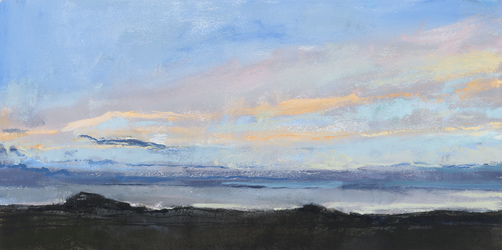 Ellen Holtzblatt Landscape - Iceland oil on paper mounted on panel