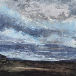 Ellen Holtzblatt Landscape - Iceland oil on panel