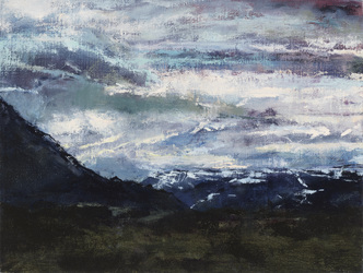 Ellen Holtzblatt Landscape - Iceland oil on linen mounted on panel
