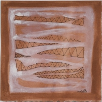 Ellen Kahn Abstract Works on Paper watercolor/gouache on paper