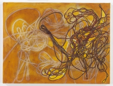 Ellen Kahn String Paintings oil on canvas