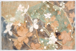 Ellen Kahn Botanical Paintings mixed media on canvas