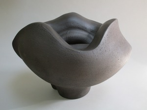 Ellen Schön  Wellspring Series Smoke-fired clay