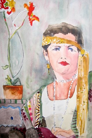 Ellen S. Gordon Watercolor and Ink
