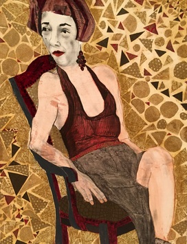 Ellen S. Gordon Figurative Collages mixed media