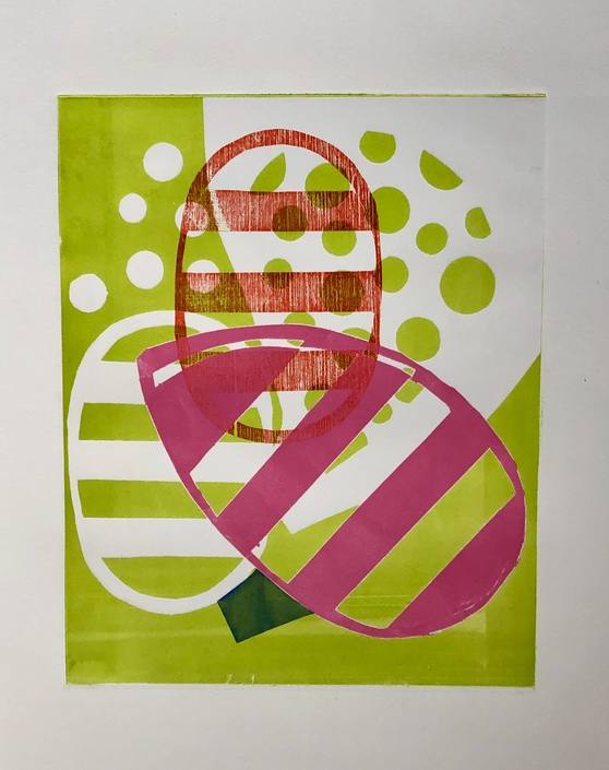 SUSAN MASTRANGELO Monoprints & Linocuts Monoprints