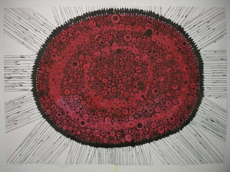 Emilie Lemakis Large-Scale Drawings gouache and ink on paper