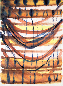 EMILY BERGER Small inks on paper ink on tyvec paper