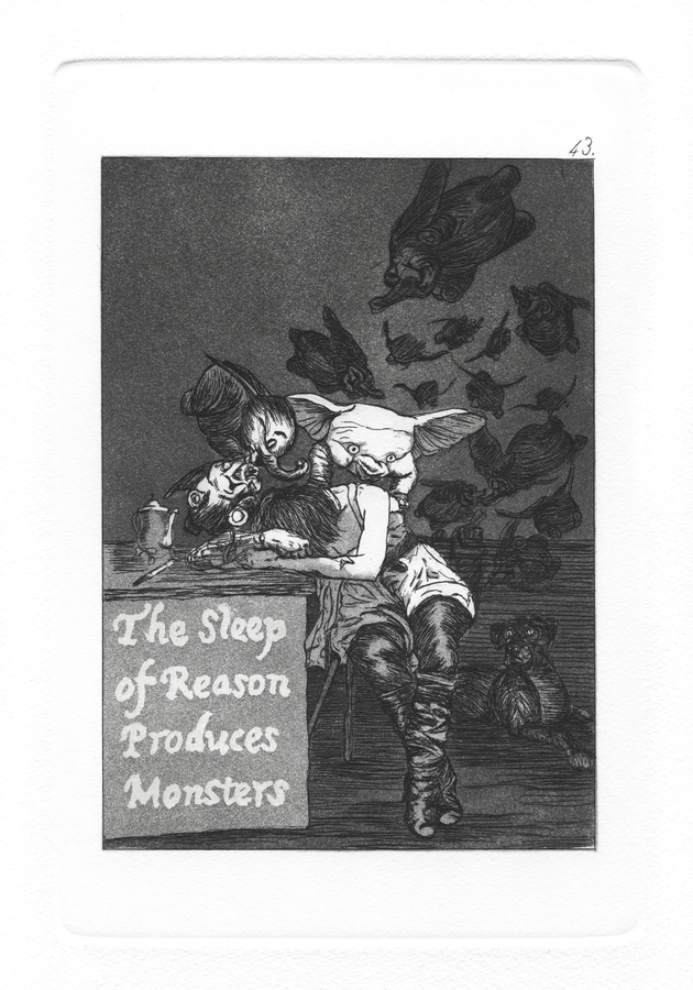 The Caprichos Plate 43: The Sleep of reason produces monsters.