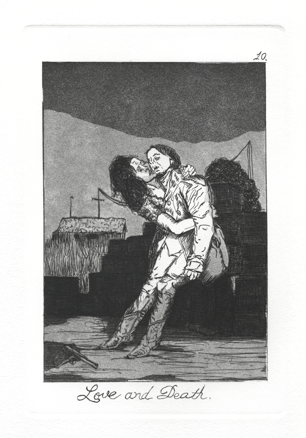 The Caprichos Plate 10: Love and Death.
